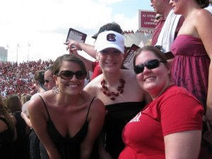 Chas, Me, and Carla inside Williams-Brice.