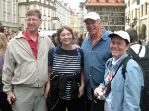 Look who we ran into in Prague!
