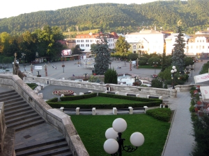 Žilina, looking down into the lower square.